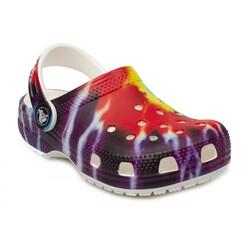 Crocs - Crocs 205451 K Classic Tie Dye Graphic Clog K Çocuk Terlik (Thumbnail - )