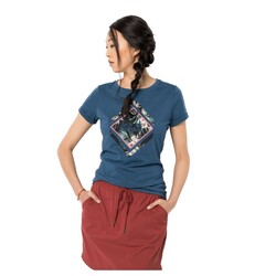Jack Wolfskin - Jack Wolfskın 1806931 Tropical Square T W Kadın T-Shirt (Thumbnail - )
