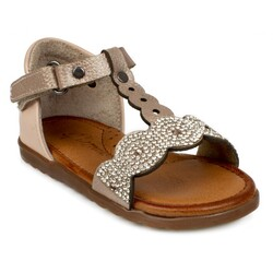 Piarmoni - Piarmoni Msm Trend Sandals 2039 Taşlı Kız Çocuk Sandalet (Thumbnail - )