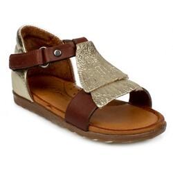 Piarmoni - Piarmoni Msm Trend Sandals 2078 Tek Cırt Kahve Çocuk Sandalet (Thumbnail - )