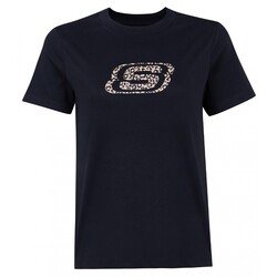 Skechers - Skechers S212922 W Leopard Print Kadın T-Shirt (Thumbnail - )